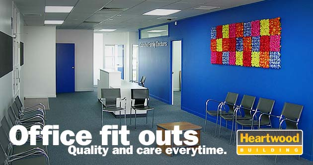 Office fit outs. Quality and care everytime. Heartwood Building.